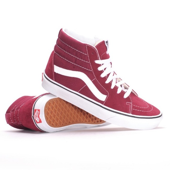 Vans Shoes | Vans High Top Burgundy